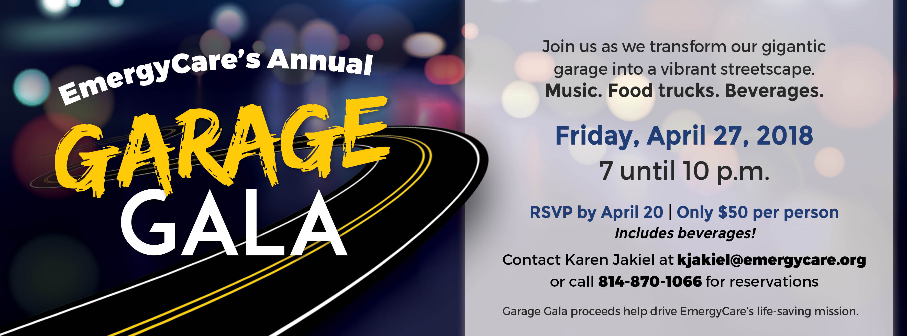 EmergyCare Garage Gala 2018 Facebook